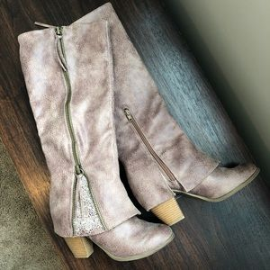 Not Rated Taupe Lace Boot